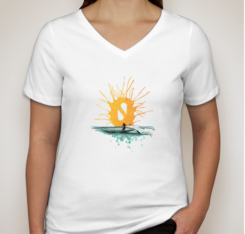 ECO SUNRISE PADDLE SHIRT-V-Neck Women's - Solace SUP Boards