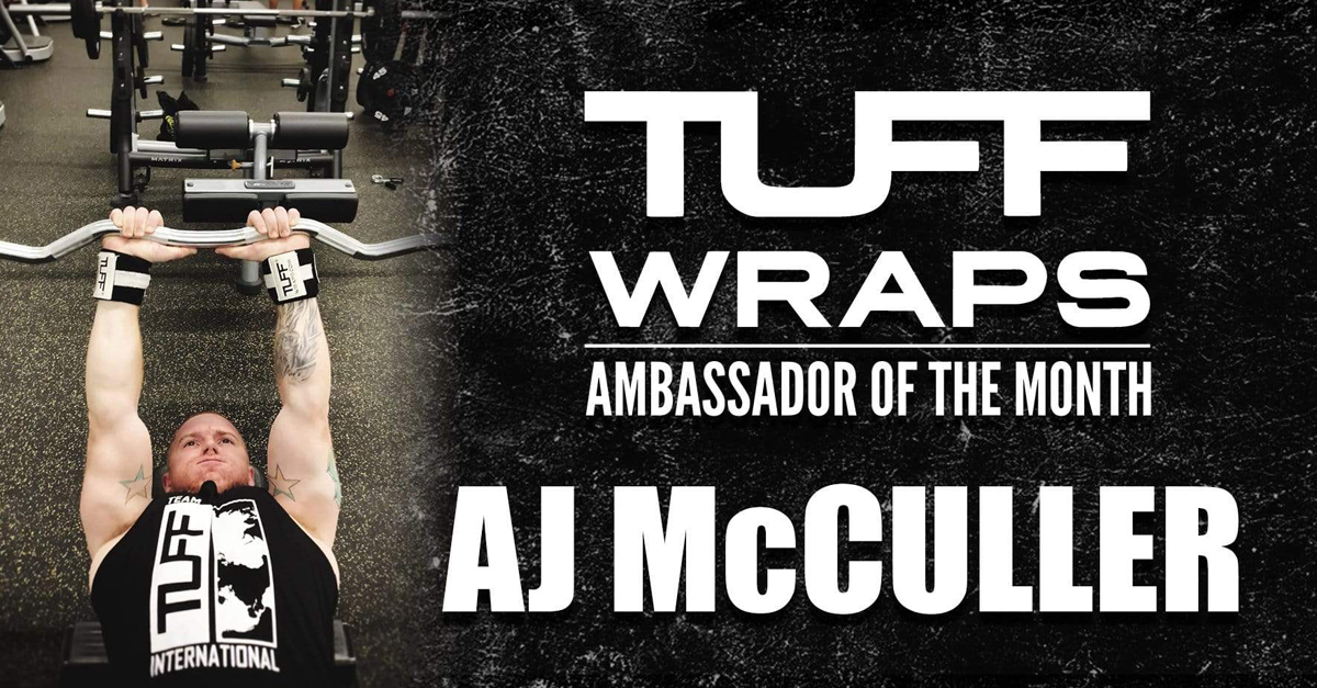 TUFFWRAPS DECEMBER AMBASSADOR OF THE MONTH - AJ MCCULLER