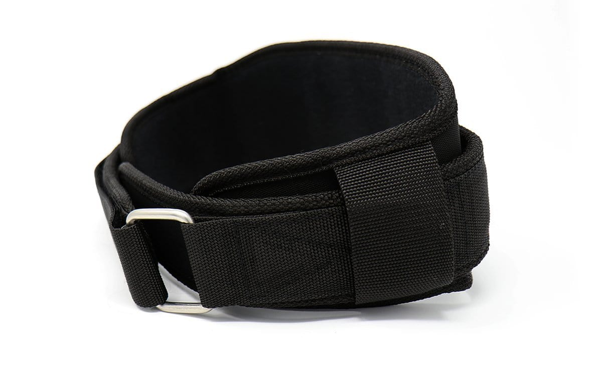 "TUFF 4.5"" Nylon Weight Lifting Belt - All Black"