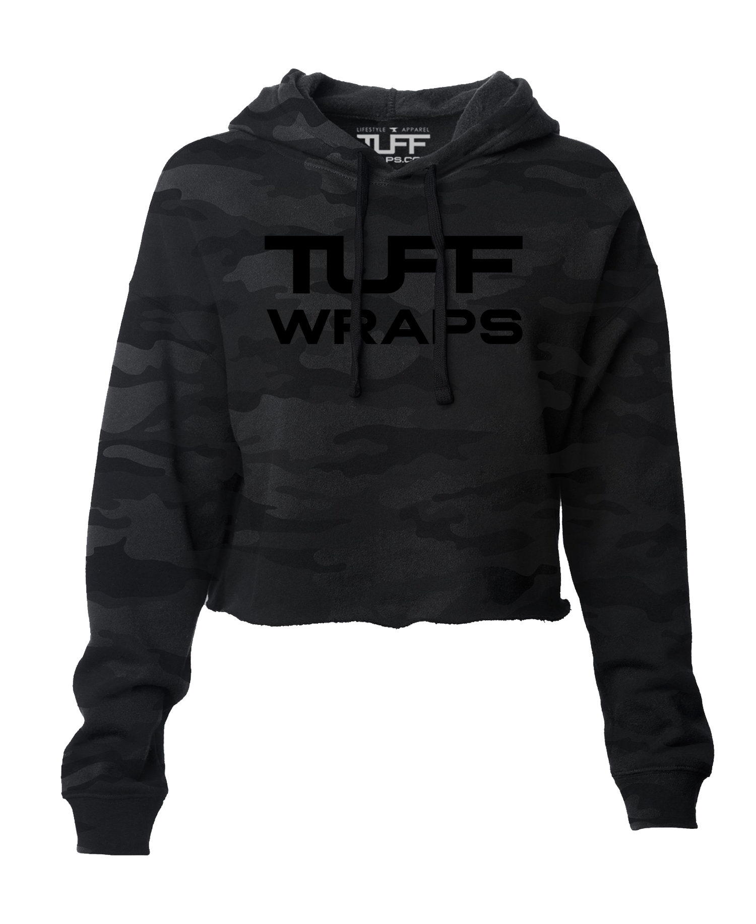 Tuffwraps Global Hooded Cropped Fleece - Black Camo