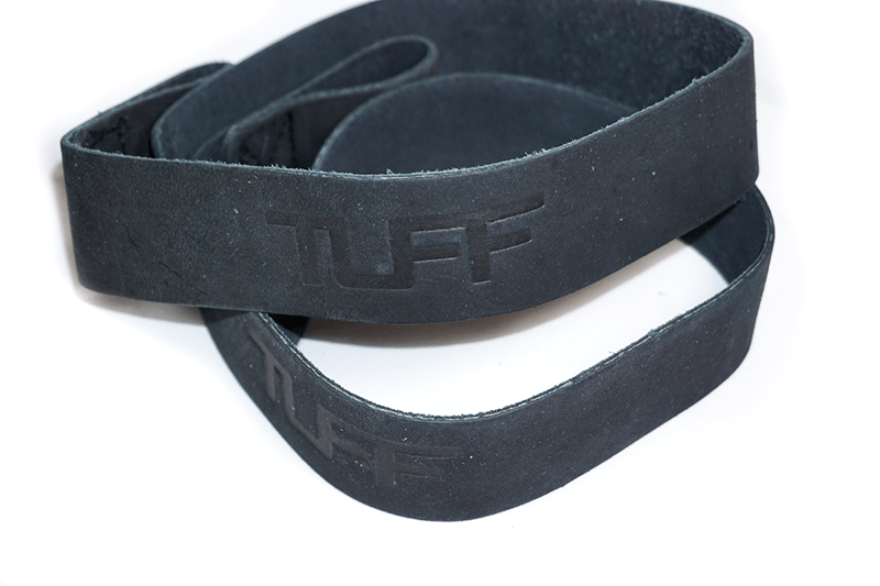 TUFF Leather Lifting Straps (Black)