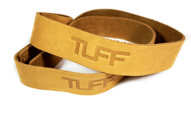 TUFF Leather Lifting Straps (Tan)