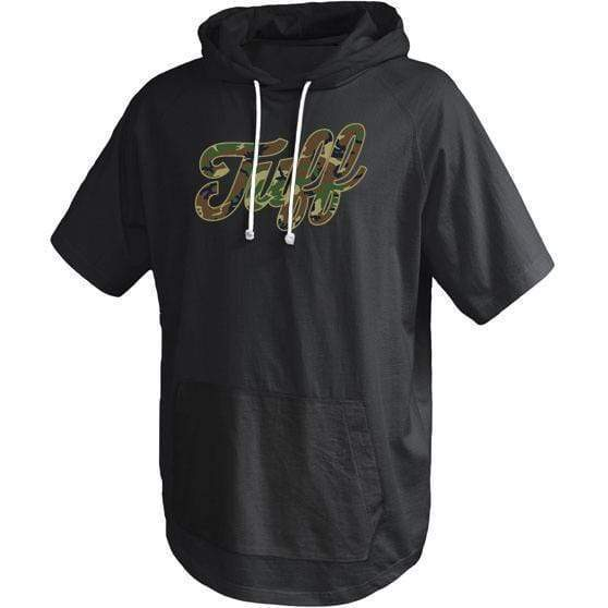 TUFF Script Camo Short Sleeve Hooded Tee