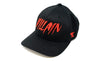 Villain Black Flexfit Hat (Red)
