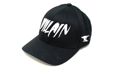 Villain Black Flexfit Hat (White)