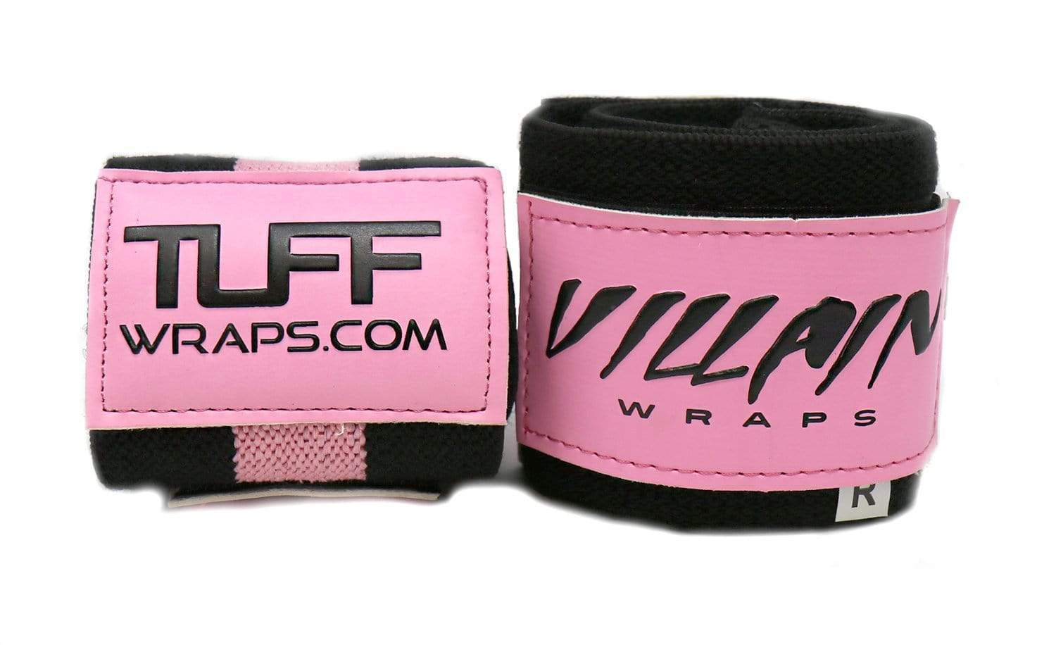 "Villain Sidekick Wrist Wraps 16"" (Black/Pink) - Breast Cancer"