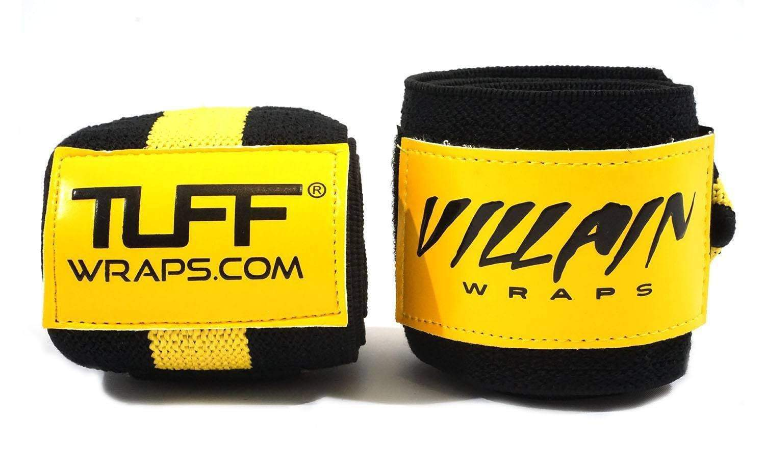 "Villain Sidekick Wrist Wraps 16"" (Black/Yellow)"