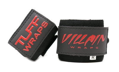 "Villain Sidekick Wrist Wraps 16"" (All Black)"