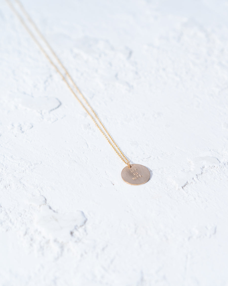Jess Lively x Moulton ALL IS WELL Tenet Necklace
