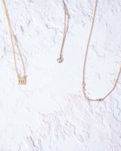 'M' Letter Necklace