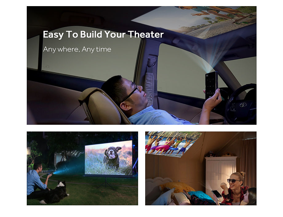 MINI SMART 4K DLP PROJECTOR WI-FI