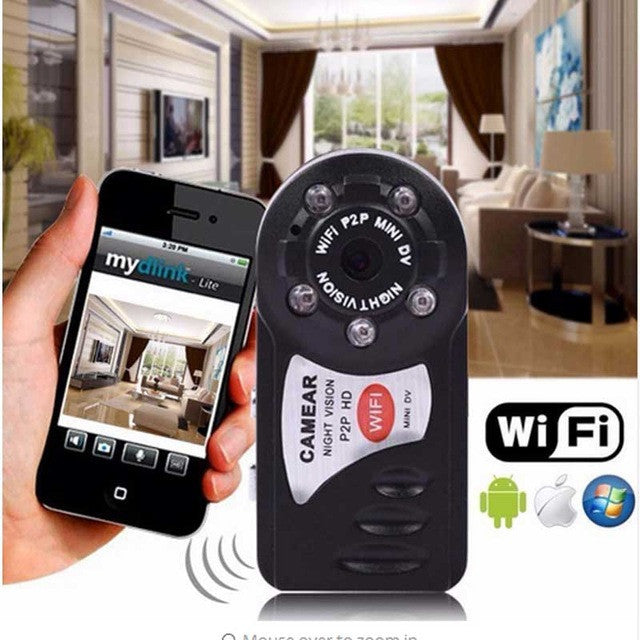 MINI WIFI CAMERA DVR WIRELESS IP CAMCORDER VIDEO RECORDER