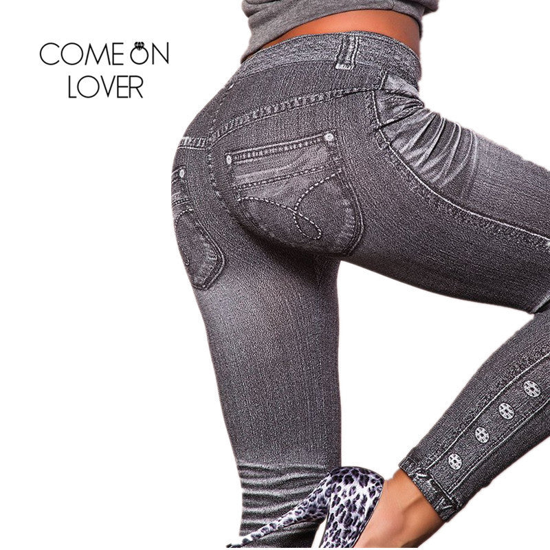 Work Out Fashion Denim Leggings