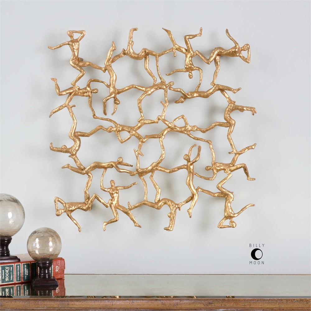 Uttermost Golden Gymnasts Wall Art