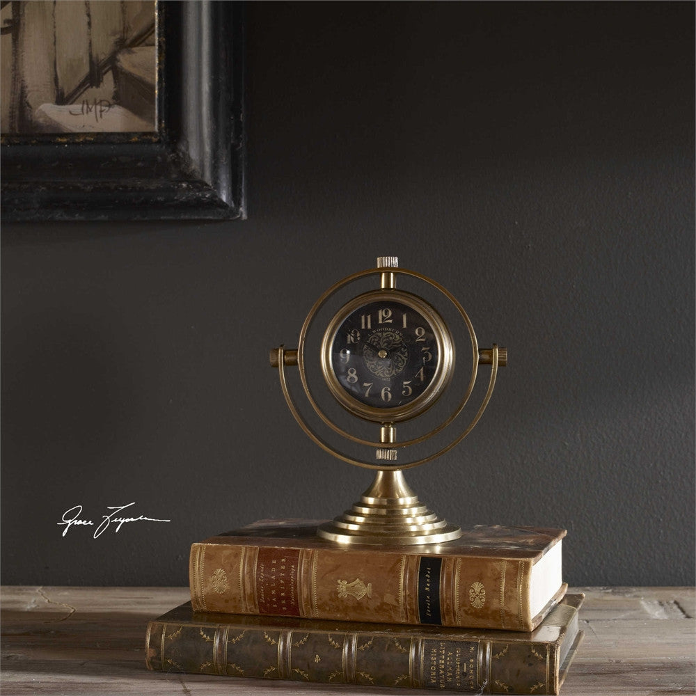Uttermost Almonzo Table Clock