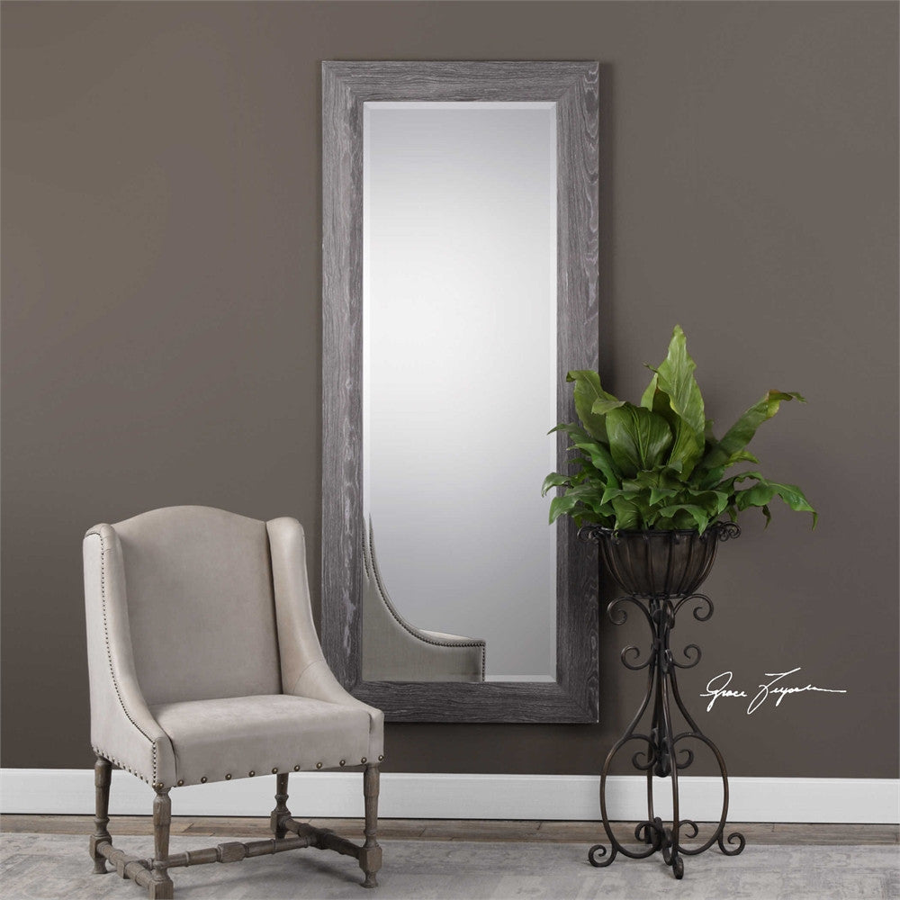 Uttermost Beresford Oversized Charcoal Wood Mirror