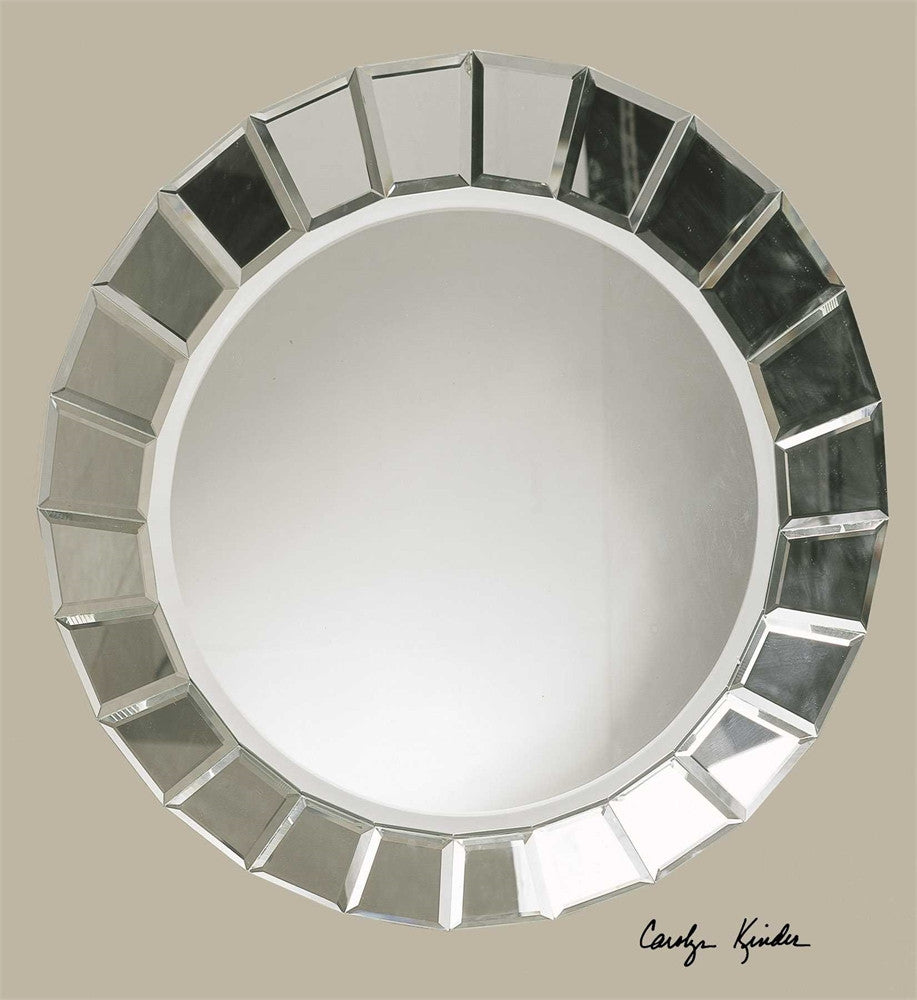 Uttermost Fortune Frameless Round Mirror