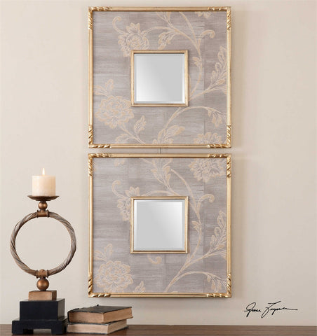 Uttermost Evelyn Square Mirrors, Set of 2
