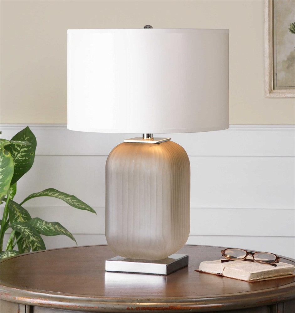Uttermost Forino Gray Glass Table Lamp