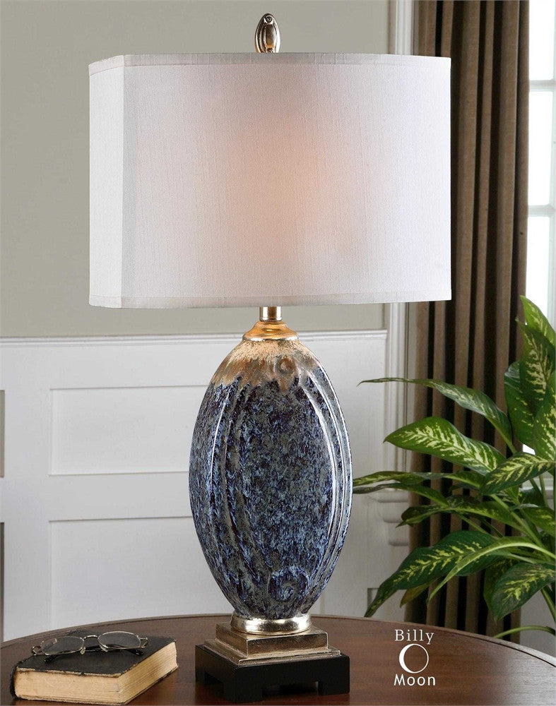 Uttermost Blue Latah Lamp