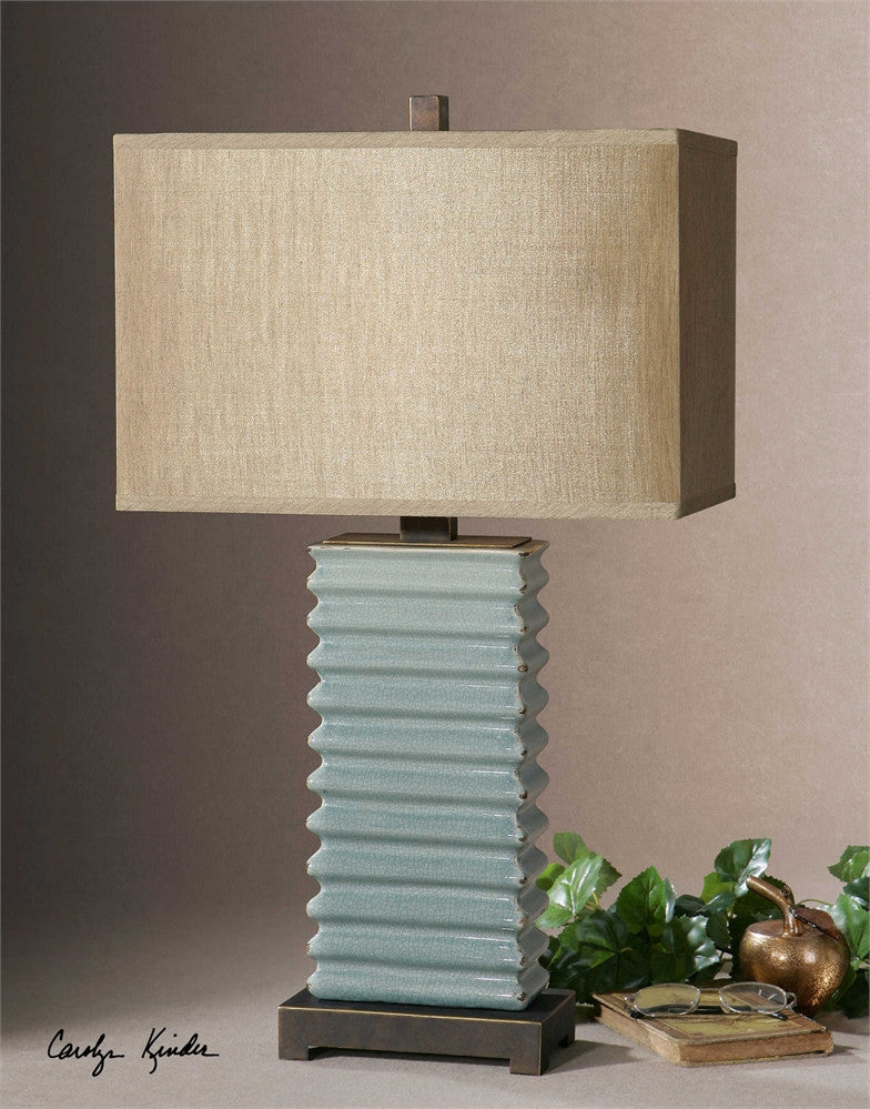 Uttermost Lupara Crackled Blue Lamp