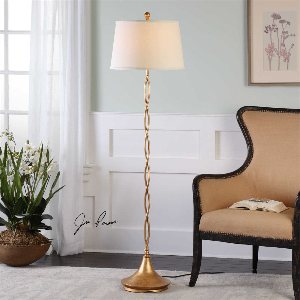 Uttermost Elica Gold Twist Floor Lamp