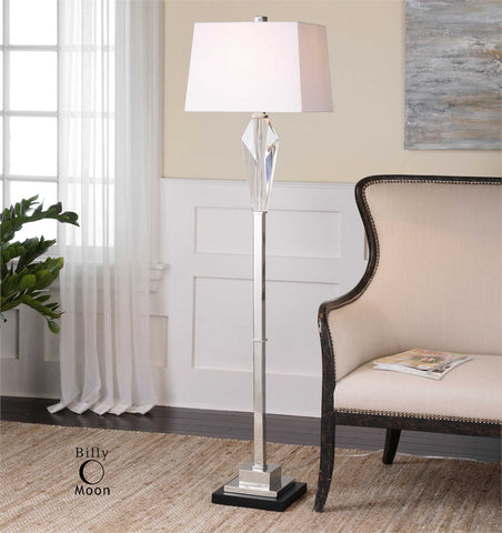 Uttermost Altavilla Cut Crystal Floor Lamp