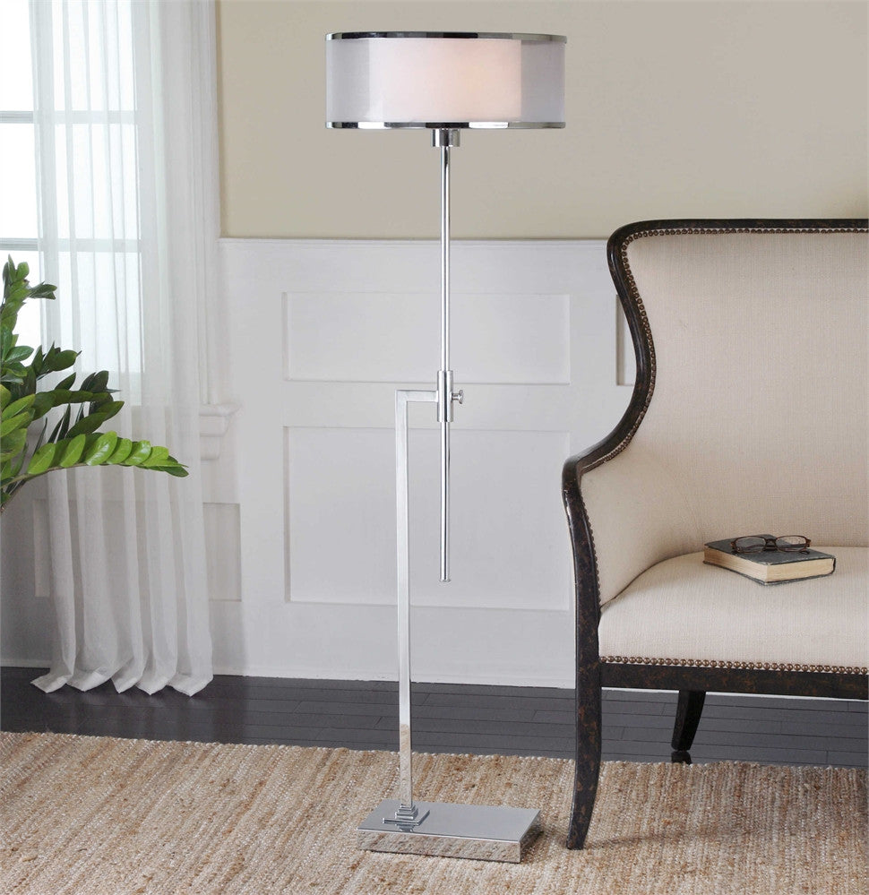Uttermost Duarte Nickel-Plated Floor Lamp