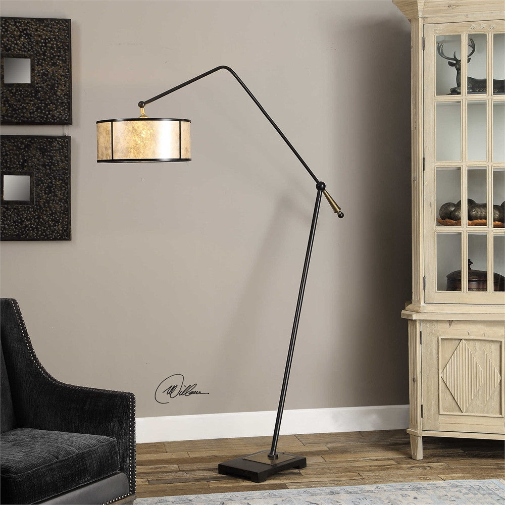 Uttermost Newburgh Drum Shade Floor Lamp