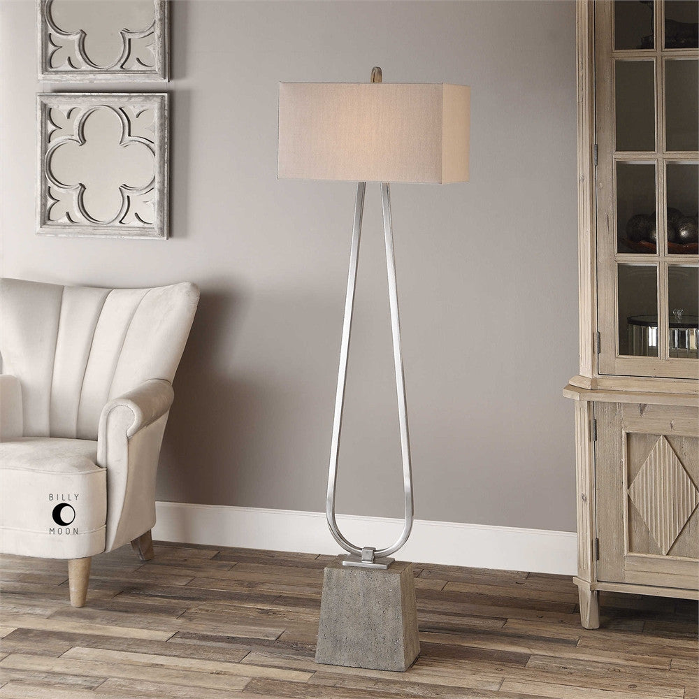 Uttermost Carugo Polished Nickel Floor Lamp