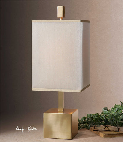 Uttermost Flannigan Brass Accent Lamp