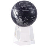 "Silver Constellations in Black MOVA Globe - 4.5"" Diameter"