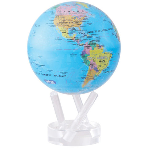 "Blue Political Map MOVA Globe - 6"" Diameter"