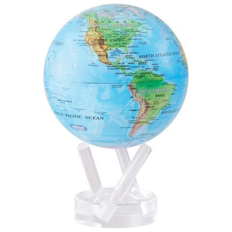 "Blue Relief Map MOVA Globe - 6"" Diameter"