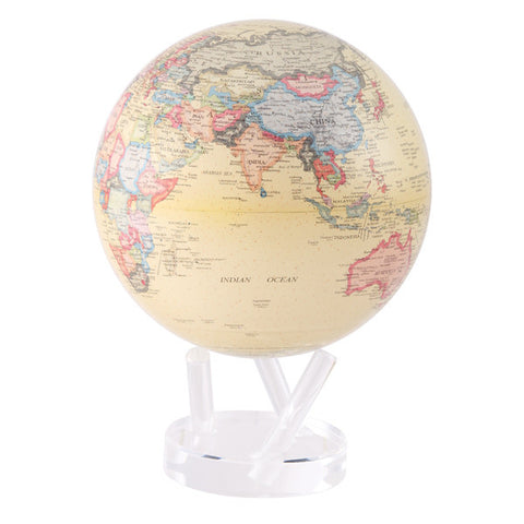 "Antique Beige MOVA Globe - 8.5"" Diameter"