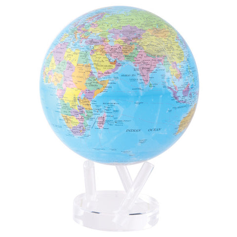 "Blue Political Map MOVA Globe - 8.5"" Diameter"