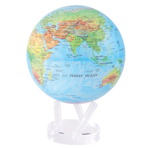 "Blue Relief Map MOVA Globe - 8.5"" Diameter"