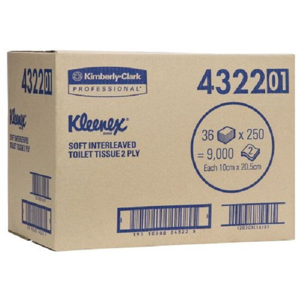 KC4322 - Kleenex Toilet Tissue - Soft 2ply
