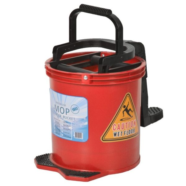 16L Mop Wringer Bucket Red - PHPWBR-16L