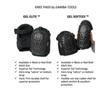 SAVE YOUR KNEES – Gel Elite Knee Pads For Work & Gardening by Gamba Tools – Best Heavy Duty Professional Knee Pad For Construction, Concrete, Flooring, Cleaning & Knee Replacements (Black)