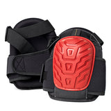 JR. GEL SOFTEES - Small Sized Professional Knee Pads for Work & Gardening with Heavy Duty EVA Foam & Layered Gel, Durable Rubber Shell & Easy to Adjust Straps by Gamba Tools (Red)