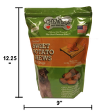 SWEET POTATO CHEWS DOG TREATS – Made in USA Only – All Natural – Best Treat Since Homemade