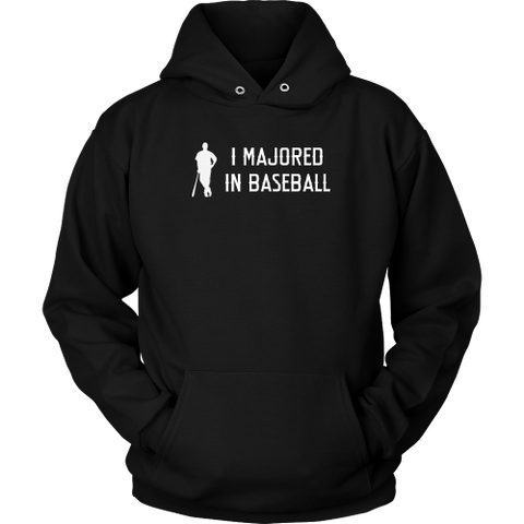 """I Majored In Baseball"" Adult Hoodie"