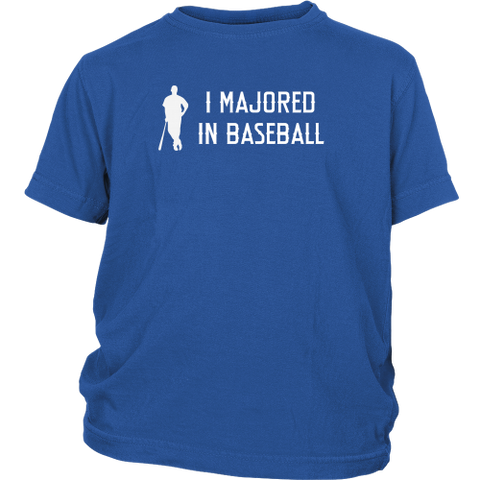 """I Majored In Baseball"" Youth T-Shirt"