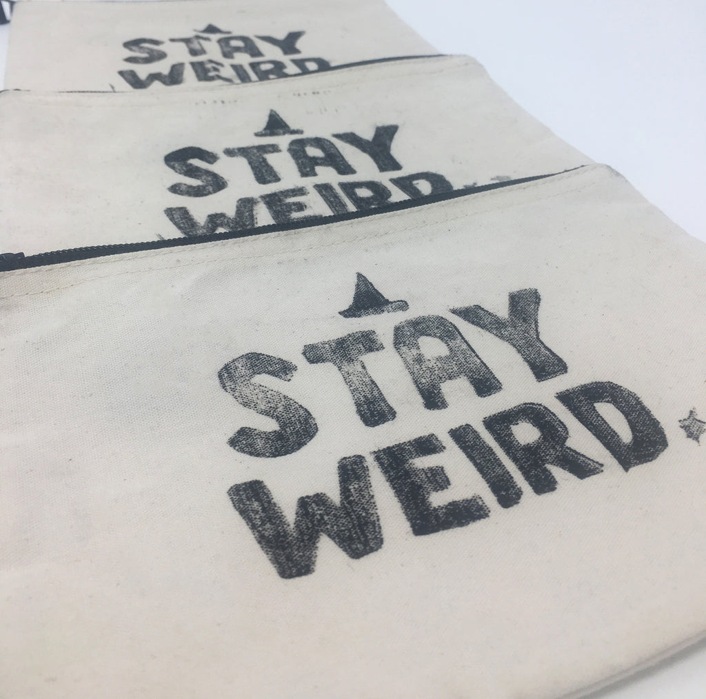 Stay Weird Stash Bag