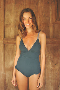 LUCIA onepiece swimsuit in BLUE TEAL - HAPPYJIGGLYFEET