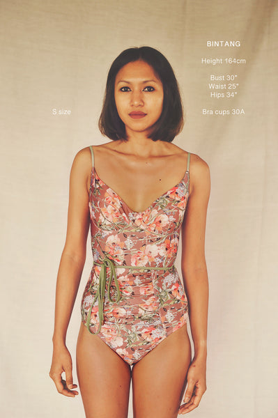 AYANA onepiece swimsuit in POPPIES - HJF - HAPPYJIGGLYFEET