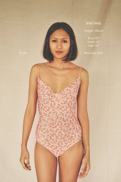 AYANA onepiece swimsuit in WILDFLOWERS - HAPPYJIGGLYFEET