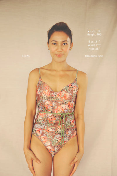 AYANA onepiece swimsuit in POPPIES (AS IS) - HJF - HAPPYJIGGLYFEET