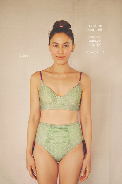 AYANA two piece swimsuit in CHRYSANTHEMUMS (AS IS) - HJF - HAPPYJIGGLYFEET